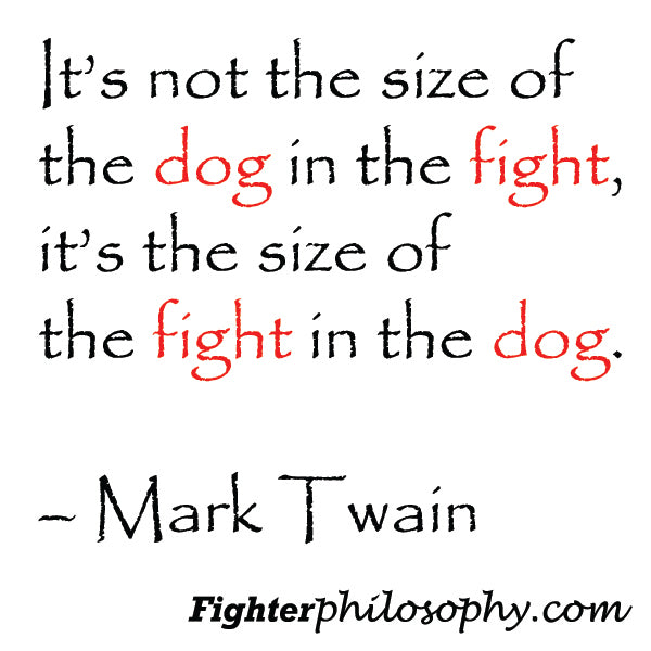 3 Mark Twain Quote Sticker Its Not The Size Of The Dog In The