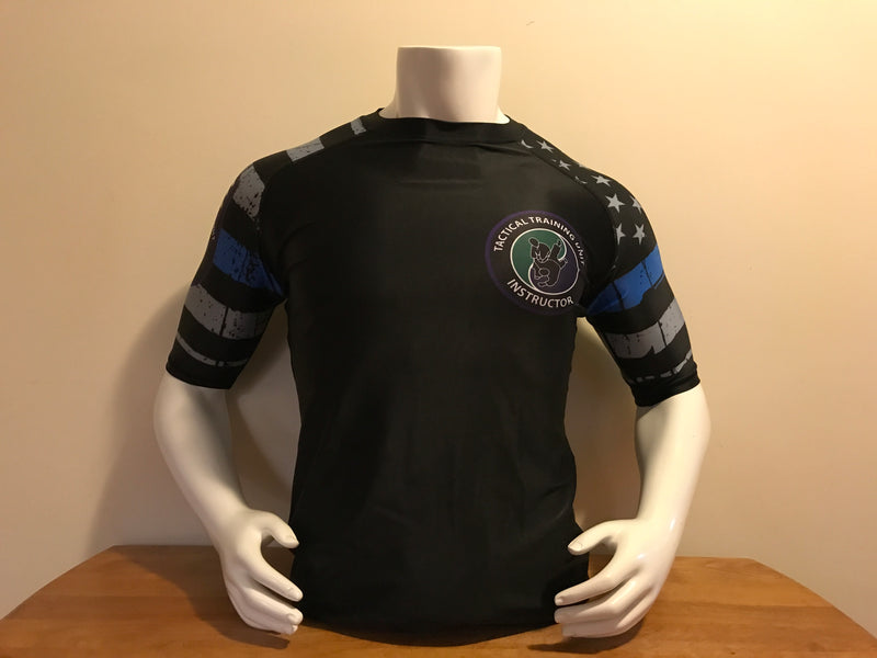 Police Tactical Thin Blue Line Rashgaurd