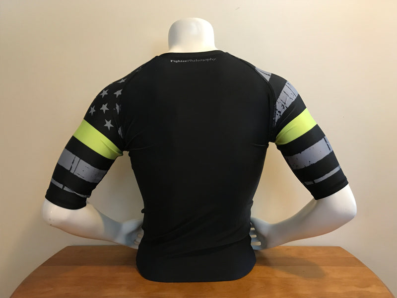 Rash Guard - Limited Edition - Thin Gold / Yellow Line