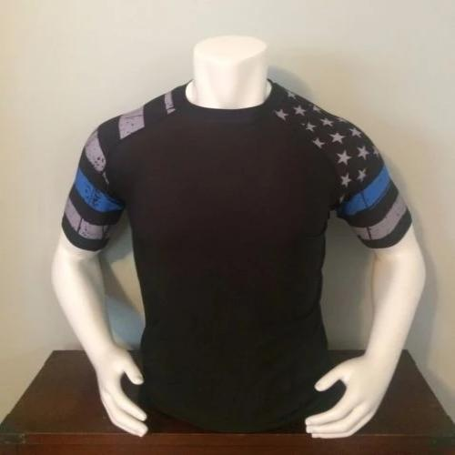 POLICE: THIN BLUE LINE RASH GUARD
