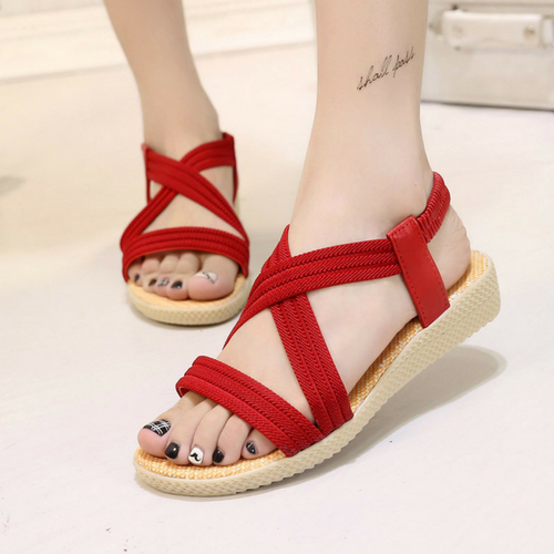 ISABELLA RED SANDALS