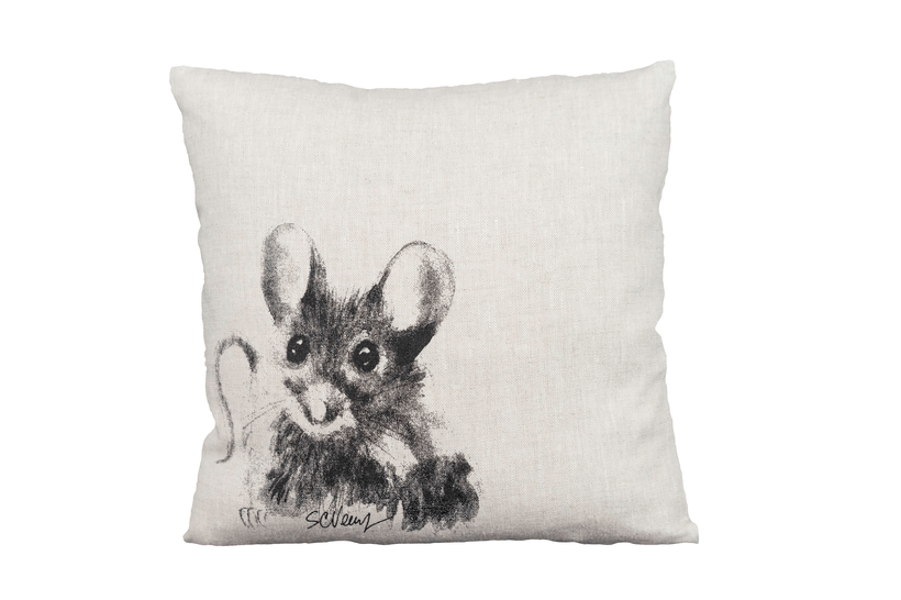 Mouse on pillow
