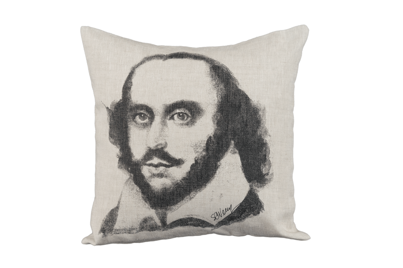 William Shakespeare on pillow