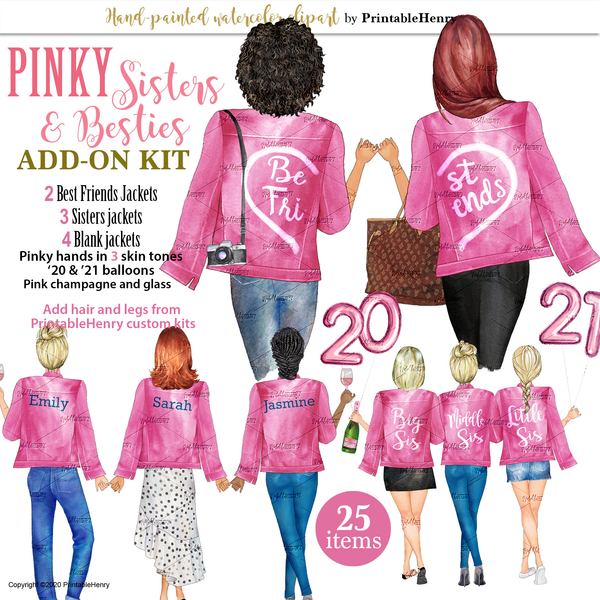 Pink Jackets Add-On kit