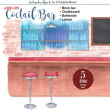 Cocktail Bar Background - PrintableHenry