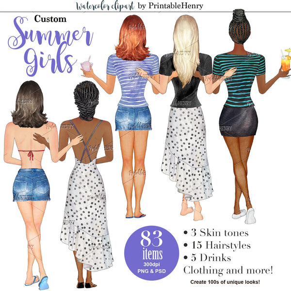 Summer Girls Custom kit - PrintableHenry