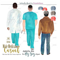 Male Medical & Casual Add-On kit - PrintableHenry