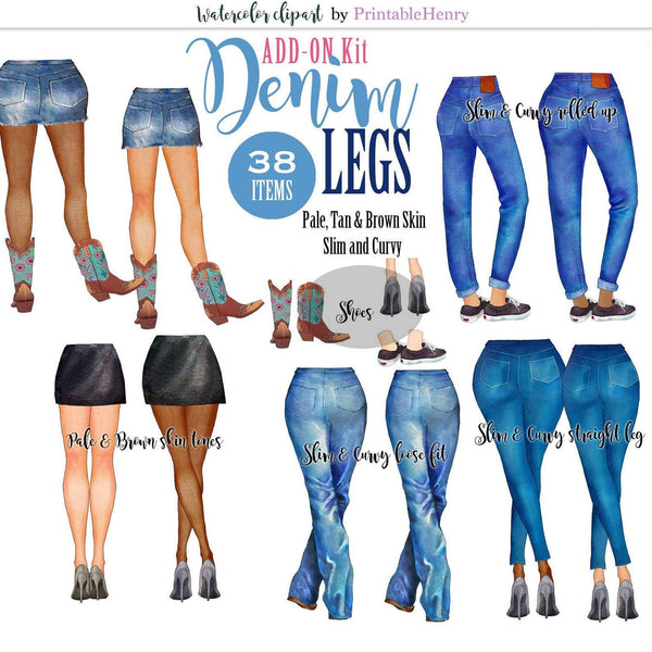 Denim Legs Add-On kit - PrintableHenry