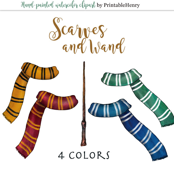 Scarves and wand - PrintableHenry