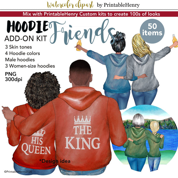 Hoodie Friends Add-on kit - PrintableHenry