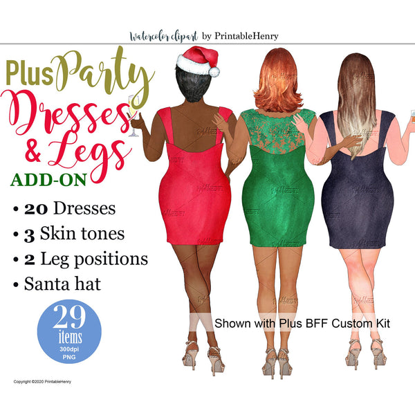 Plus Party Dresses Add-On kit - PrintableHenry