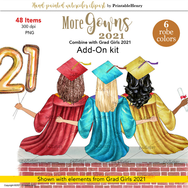 Custom Grad Girls 2021(Sitting) Gowns Add-On kit