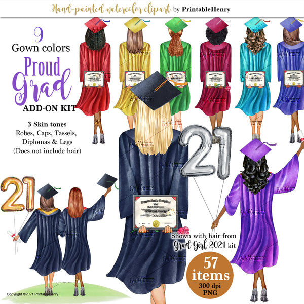 Grad Girls 2021 (Standing) Gowns Add-On kit