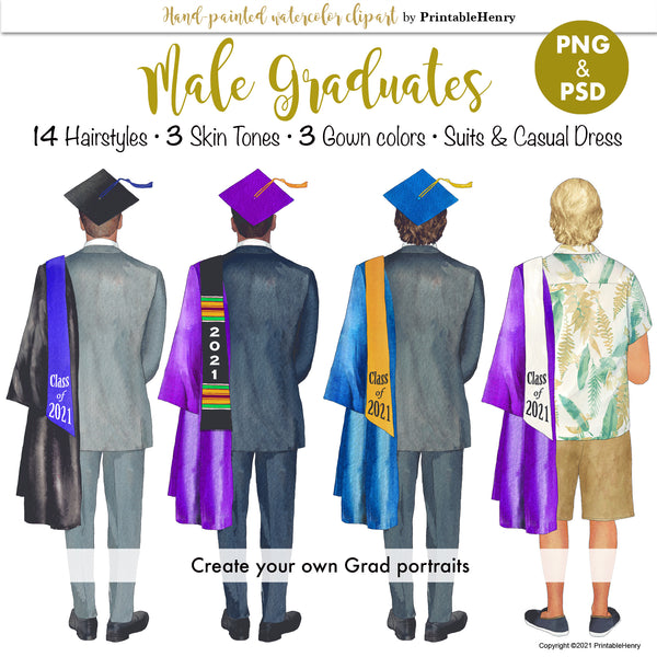 Male Grad Custom kit