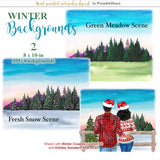 Winter Backgrounds Add-On