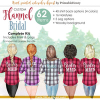 Flannel Bridal Custom clipart kit