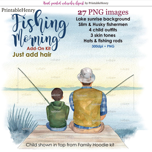 Fishing Morning Add-On kit - PrintableHenry