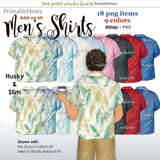 Men's Shirts Add-on kit - PrintableHenry