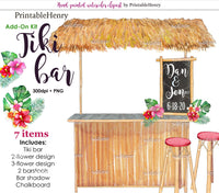 Tiki bar Add-on kit - PrintableHenry