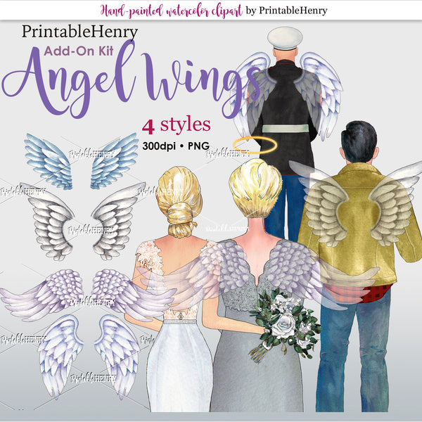 Angel Wings Add-on kit - PrintableHenry