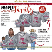Hoodie Family Add-on kit - PrintableHenry