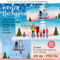 Winter Backgrounds Add-On - PrintableHenry
