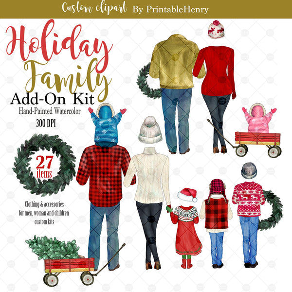 Holiday Family Add-On kit - PrintableHenry