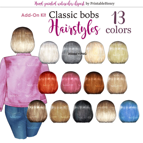 Hairstyles Classic Bob Add-on kit - PrintableHenry