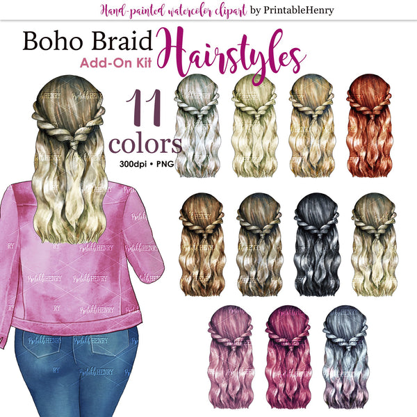 Hairstyles Boho Braids Add-on kit - PrintableHenry