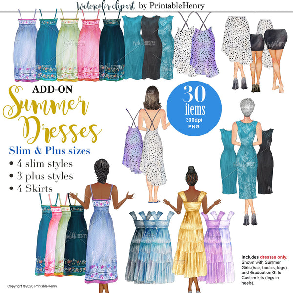 Summer Dresses Add-on kit - PrintableHenry