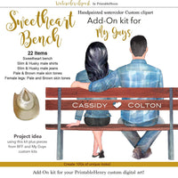 Sweetheart Bench Add-On kit - PrintableHenry