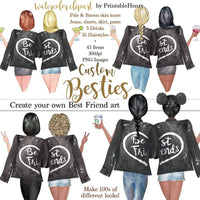 Besties Custom clipart kit