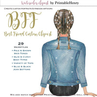 BFF Custom clipart kit - PrintableHenry