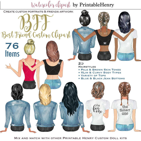 BFF Custom clipart kit