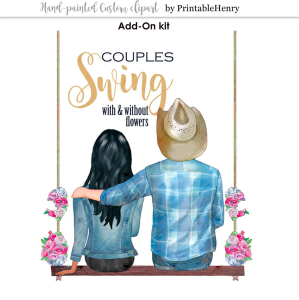 Couples Swing Add-On clipart - PrintableHenry