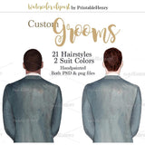 Custom Grooms clipart kit