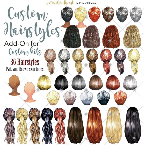 Hairstyles Custom Add-On kit - PrintableHenry