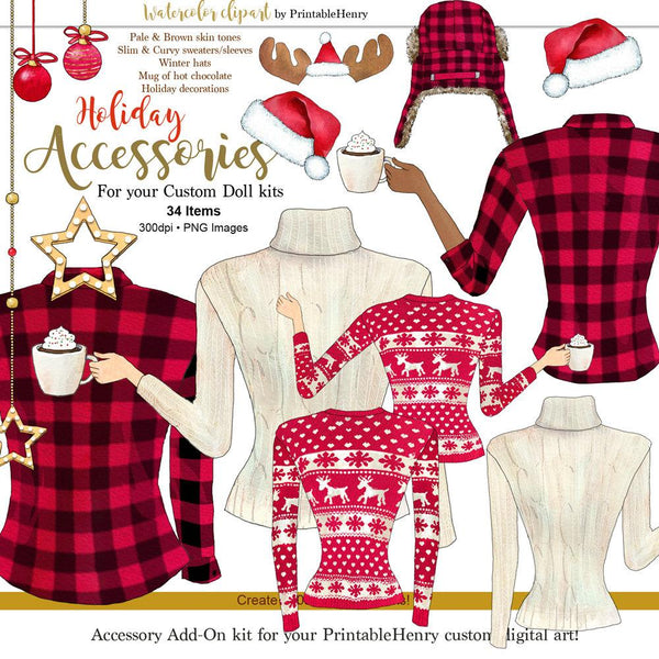 Holiday Accessories Add-On kit - PrintableHenry