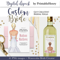 Custom Bride clipart kit