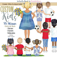 Custom Kids clipart kit - PrintableHenry
