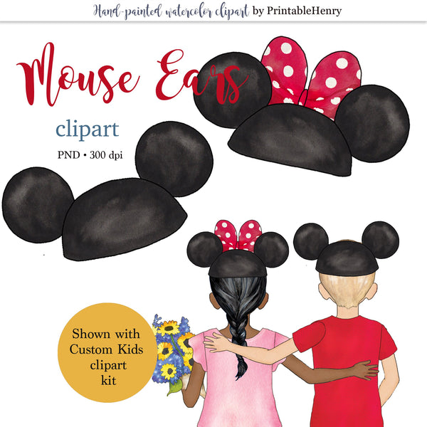 Mouse Ears clipart - PrintableHenry