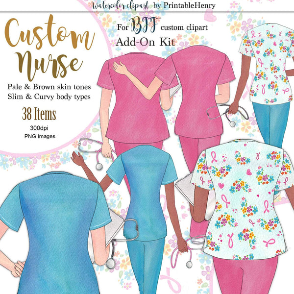 Custom Nurses Add-On kit - PrintableHenry