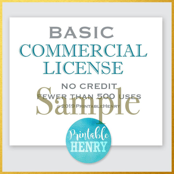Basic and Extended Commercial License - PrintableHenry