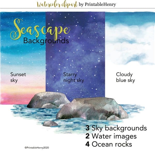 Seascape Backgrounds Add-on