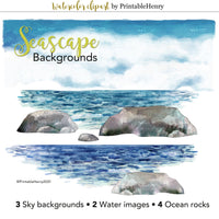 Seascape Backgrounds Add-on - PrintableHenry