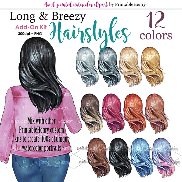 Hairsyles Long & Breezy Add-on kit - PrintableHenry