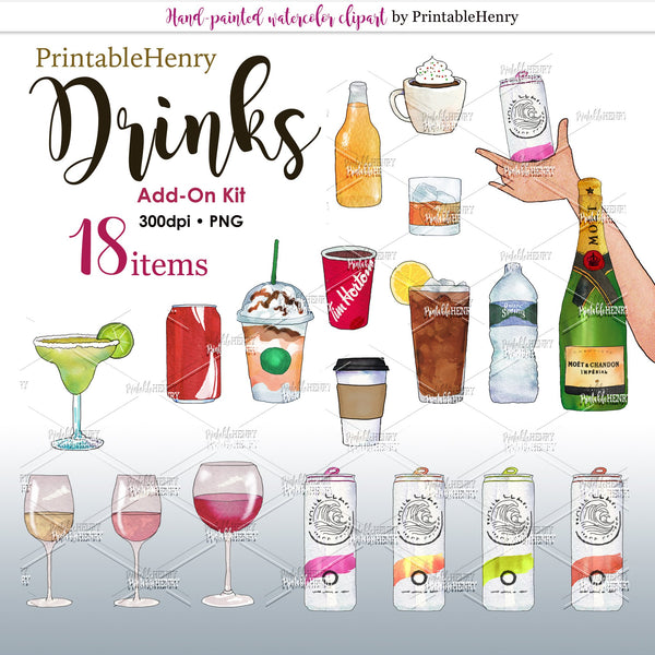 Drinks Add-on kit - PrintableHenry