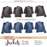 Besties Vintage Jackets Add-On kit - PrintableHenry