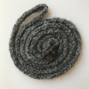 number 34 deep stone grey woollen wrist wrap