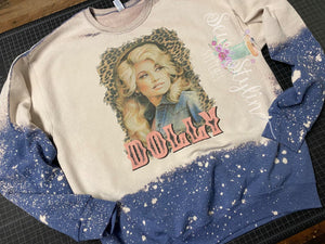 Leopard Dolly Bleached Crewneck Sweatshirt